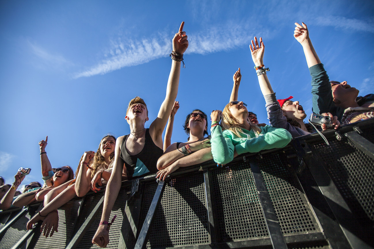 Pinkpop 2013. Publiek bij het optreden van 30 seconds to Mars.