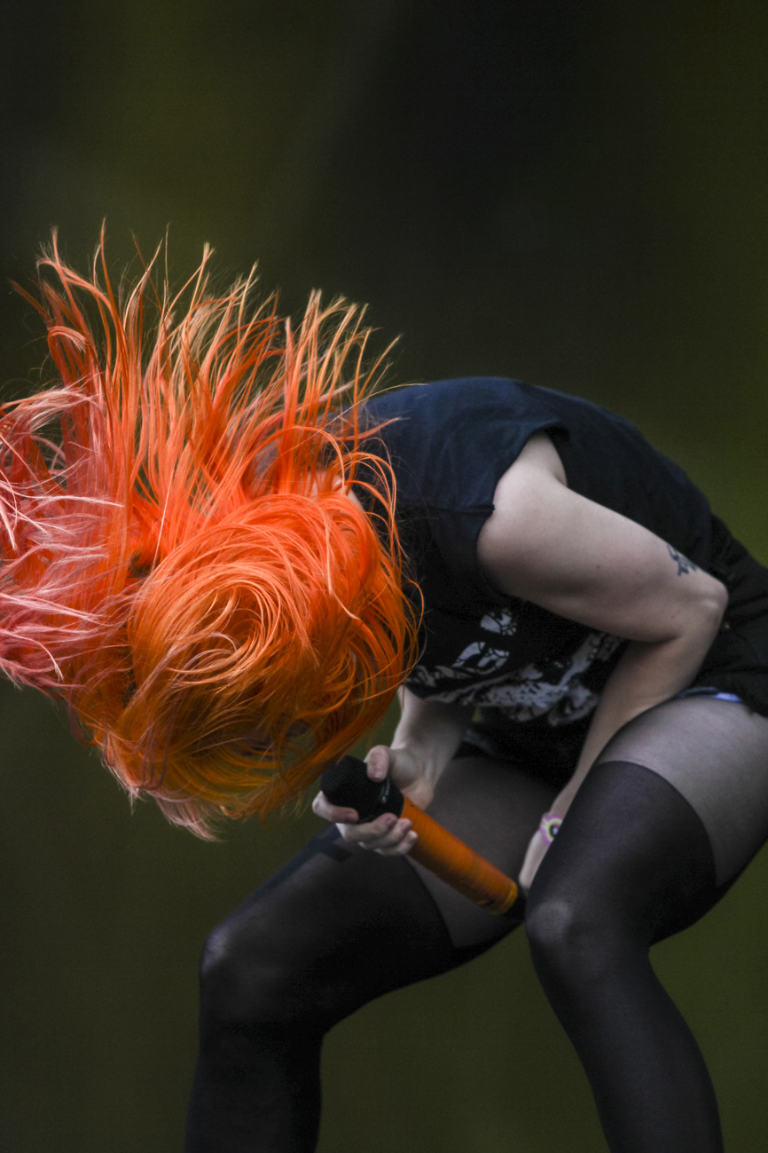 Pinkpop  2013. Hayley Williams van de band Paramore.